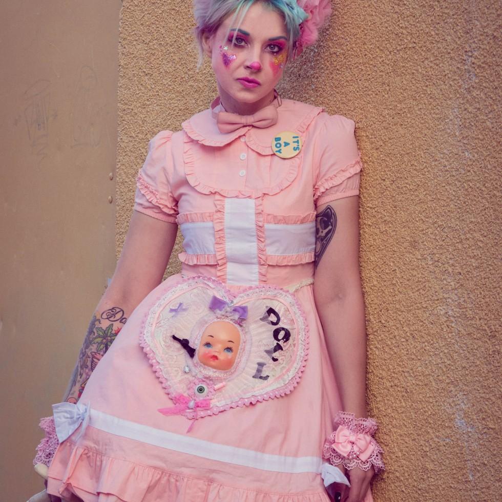 kawaii clown fashion