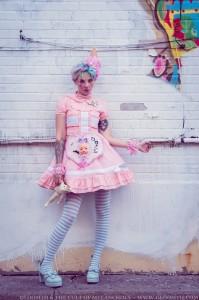 kawaii clown lolita look