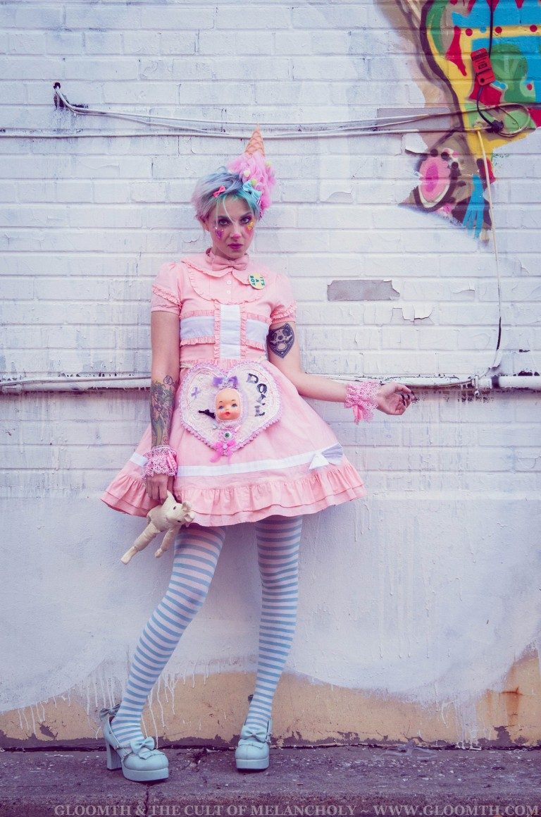 kawaii clown lolita look