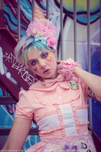 kawaii clown makeup look