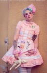 kawaii pastel clown outfit