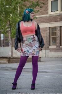 retro toys and dolls print skirt