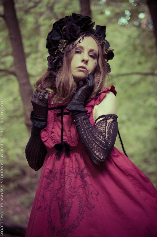 gothic mourning dress