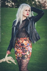 halloween print fabric skirt