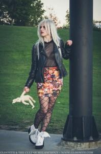halloween retro stretch skirt