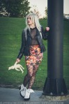 halloween retro stretch skirt