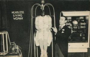 headless woman circus