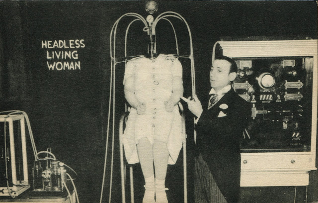 headless woman circus