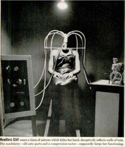 headless woman sideshow