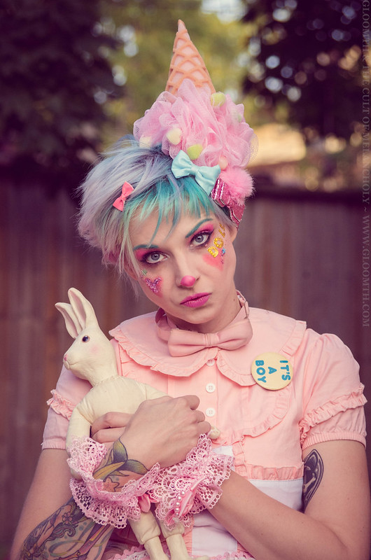 kawaii pastel clown makeup