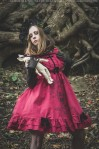 red gothic dress