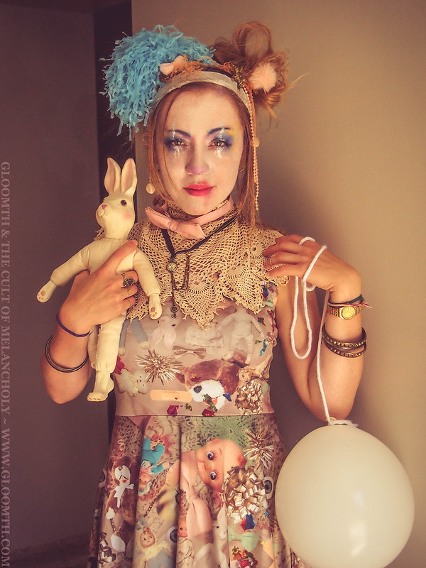 vintage circus clown costume