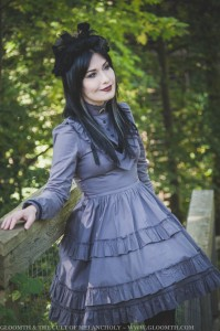 grey victorian dress