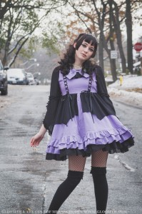 pastel purple kawaii goth