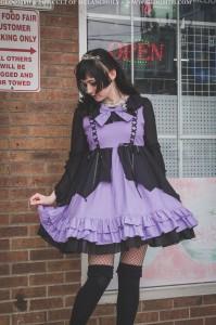 purple and black lolita