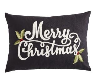 black christmas pillow gothic