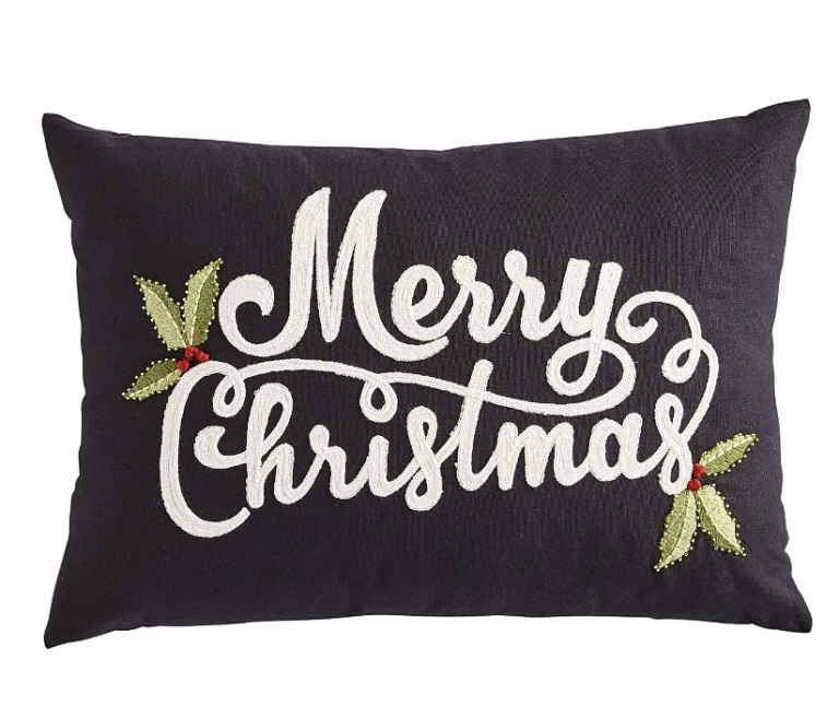 black christmas pillow gothic