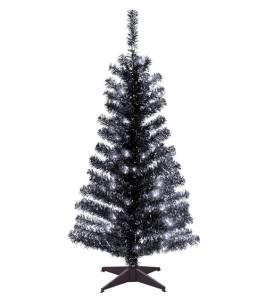 gothic black christmas tree fake