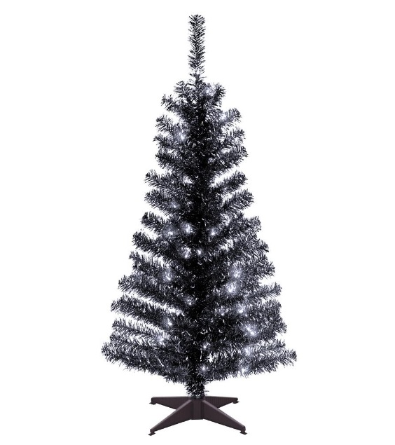 gothic black christmas tree fake