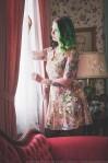 cherub print grunge dress