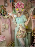 pastel creepy clown girl fashion