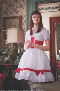 red and white lolita outfit