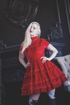 blood red velvet gothic dress