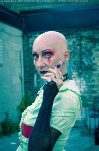 gothic nurse photoshoot