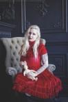 red velvet lolita dress