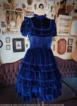 blue velvet victorian dress