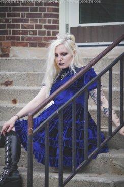 blue velvet gothic lolita dress