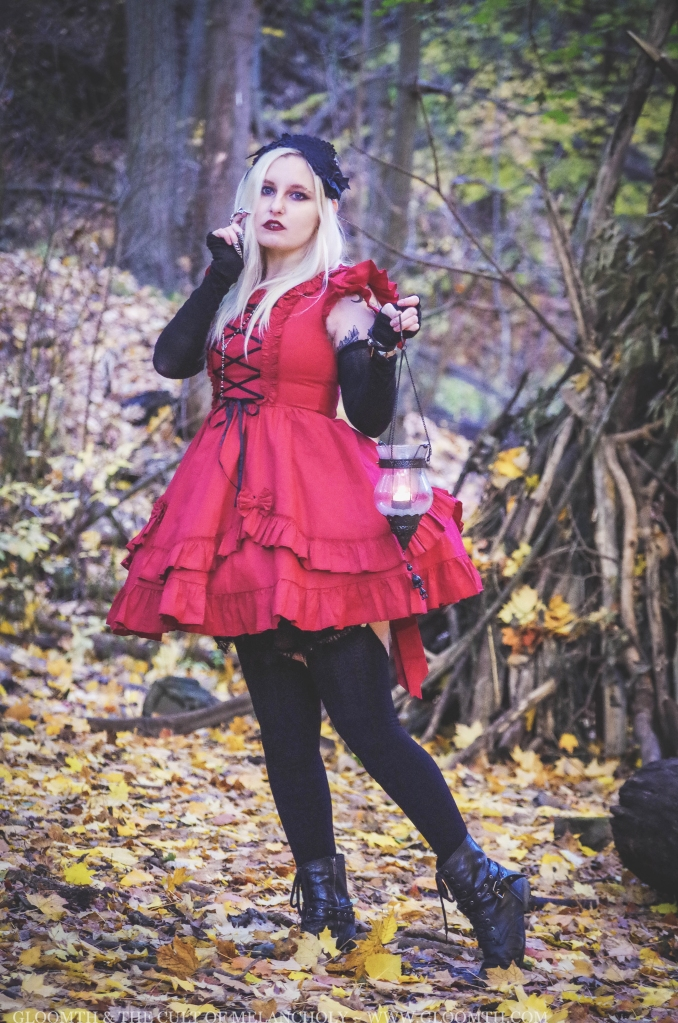 red gothic corset dress